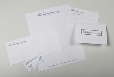 Premier Residential Mortgage of Texas Logo and Stationery Package